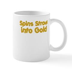 Spins Straw Into Gold Mug