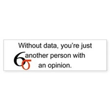 Without Data Bumper Bumper Sticker