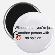 """Without Data 2.25"""" Magnet (10 pack)"""