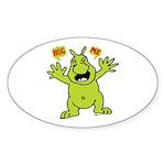 Hug Me, I'm Green! Oval Sticker (50 pk)