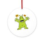 Hug Me, I'm Green! Ornament (Round)