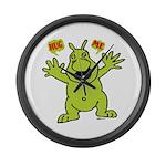 Hug Me, I'm Green! Large Wall Clock