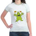 Hug Me, I'm Green! Jr. Ringer T-Shirt