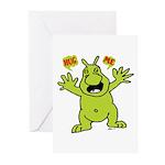 Hug Me, I'm Green! Greeting Cards (Pk of 10)