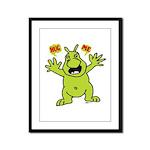Hug Me, I'm Green! Framed Panel Print