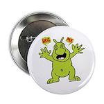 """Hug Me, I'm Green! 2.25"""" Button"""