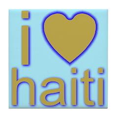 i (heart) haiti Tile Coaster