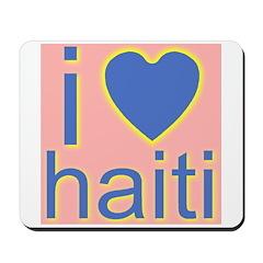i (heart) haiti Mousepad