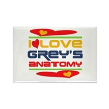 I Love Grey's Anatomy Rectangle Magnet