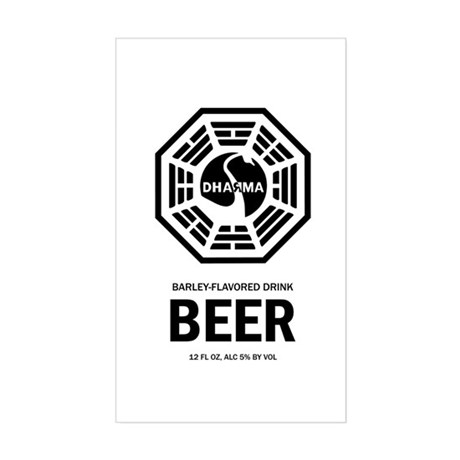 Dharma Beer Rectangle Sticker