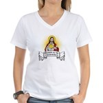 Blessed Are The Cheesemakers Women's V-Neck T-Shir