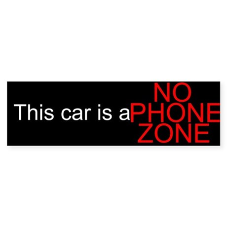 No Phone Zone Bumper Sticker (50 pk)