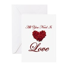 All You Need Is Love Greeting Cards (Pk of 20)