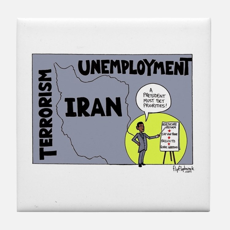 A President Must Set Prioriti Tile Coaster