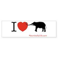 elephant Bumper Bumper Sticker