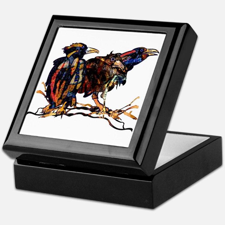 Raven Trio Jewelry Box