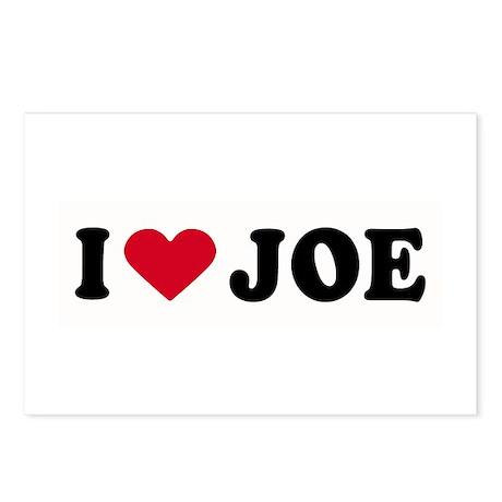 I LOVE JOE ~ Postcards (Package of 8)