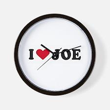 I LOVE JOE ~  Wall Clock