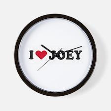 I LOVE JOEY ~  Wall Clock