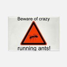 Beware of crazy running ants Rectangle Magnet