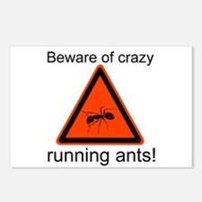 Beware of crazy running ants Postcards (Package of