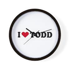 I LOVE TODD ~  Wall Clock