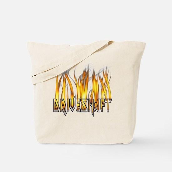 Drive Shaft Logo in Flames Tote Bag