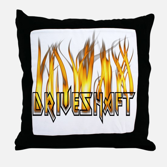 Drive Shaft Logo in Flames Throw Pillow