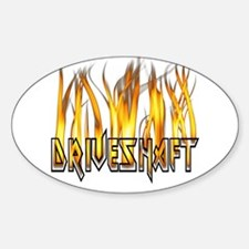 Drive Shaft Logo in Flames Oval Decal
