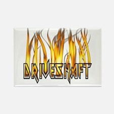 Drive Shaft Logo in Flames Rectangle Magnet (10 pa