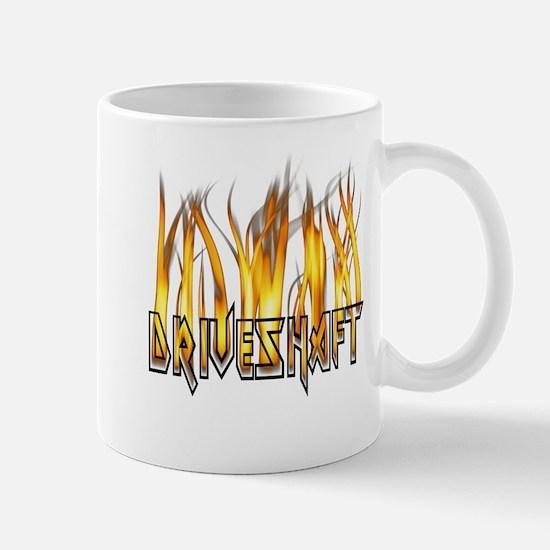Drive Shaft Logo in Flames Mug