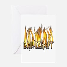 Drive Shaft Logo in Flames Greeting Card