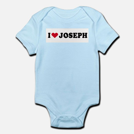 I LOVE JOSEPH ~  Infant Creeper