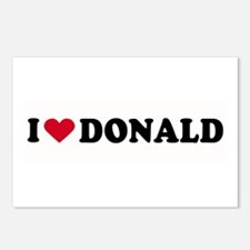 I LOVE DONALD ~  Postcards (Package of 8)