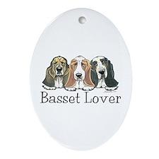 Basset Hound Lover Oval Ornament