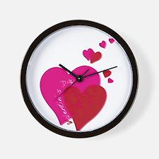 Valentin`s Day Wall Clock