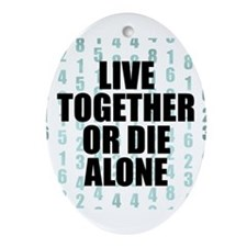 LOST Live Together Ornament (Oval)