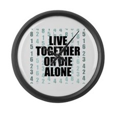 LOST Live Together Large Wall Clock