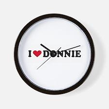 I LOVE DONNIE ~  Wall Clock