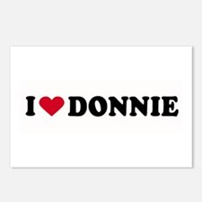 I LOVE DONNIE ~  Postcards (Package of 8)