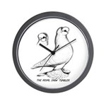 Royal Snow Tumbler Pigeon Wall Clock