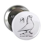 "Royal Snow Tumbler Pigeon 2.25"" Button (10 pa"