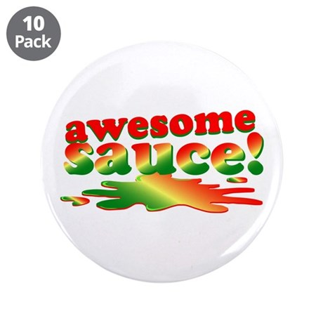 """Awesome Sauce 3.5"""" Button (10 pack)"""