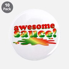 "Awesome Sauce 3.5"" Button (10 pack)"