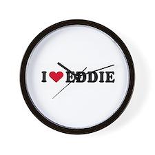 I LOVE EDDY ~  Wall Clock