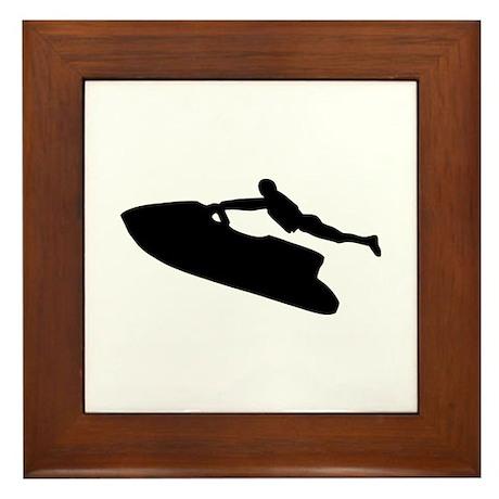 Jet ski Framed Tile