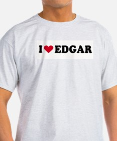 I LOVE EDGAR ~  Ash Grey T-Shirt