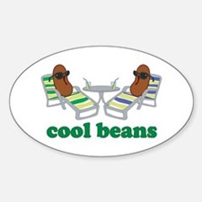 Cool Beans Sticker (Oval)
