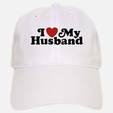 I Love My Husband Baseball Baseball Cap