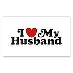 I Love My Husband Rectangle Sticker 10 pk)